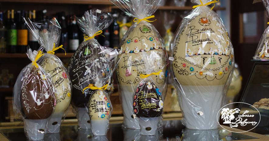 Uova pasquali di cioccolato